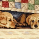 PUPPY LOVE DALE TREMBLAY BEGLEY DOG CROSS STITCH KIT YELLOW LAB RETRIEVER