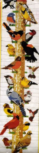 RARE BIRD WATCHER NEEDLEPOINT LONGSTITCH KIT REINARDY THE FEEDER