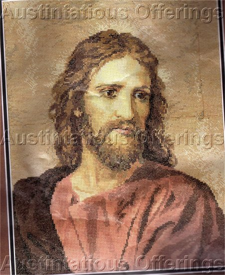 RARE HOFMANN REPRODUCTION CROSS STITCH KIT INSPIRATIONAL CHRIST PORTRAIT