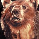 RARE JW BAKER WILDLIFE ART REPRODUCTION CROSS STITCH KIT GRIZZLY BEAR