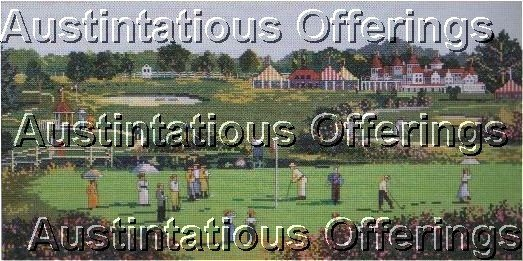 ELSA WILLIAMS GOLF COUNTED CROSS STITCH KIT GOLFING GREEN HUSHED CROWD