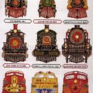 RARE STEAM TRAIN CROSS STITCH SAMPLER KIT LOCOMOTIVES