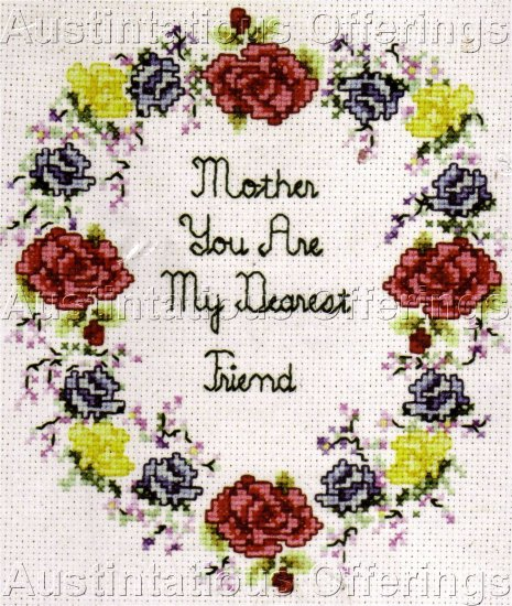 PHIPPS FLORAL CROSS STITCH SAMPLER KIT BOUQUET WISHES