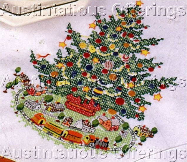 STAMPED CROSS STITCH KIT TABLERUNNER PFALTZGRAFF CHRISTMAS HERITAGE