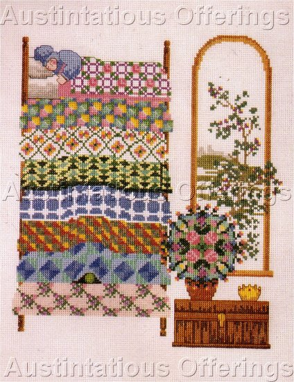 HANS CHRISTIAN ANDERSON FAIRY TALE CROSS STITCH KIT PRINCESS & PEA