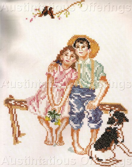 RARE NORMAN ROCKWELL STAMPED CROSS STITCH KIT SWEET SIXTEEN SERIES
