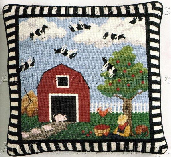 RARE FARM FOLK ART NEEDLEPOINT KIT BETSY HAWES TAYLOR