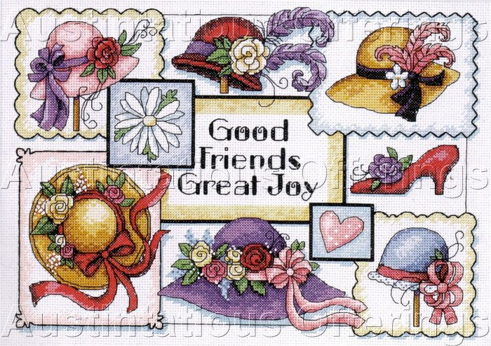 HARD TO FIND WINGET HAT SAMPLER CROSS STITCH KIT FRIENDS