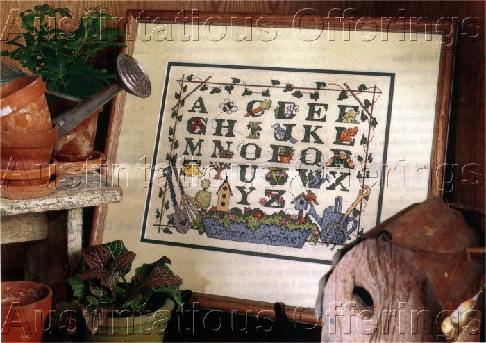 RARE JAVIER & FINWALL SAMPLER CROSS STITCH KIT GARDENER SAMPLER