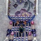 CLARKE HEIRLOOM BLUE BEADED NECKLACE/PURSE KIT TURQUOISE & PINKS TOO