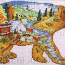 RUSTIC FOLK ART BEAR CROSS STITCH KIT HIDDEN IMAGE