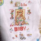 HARD TO FIND GILLUM B FOR BABY BEARS PRE-FRINGED CROSS STITCH AFGHAN KIT BABY BLANKET TEDDIES