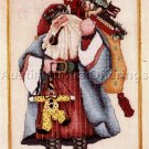 RARE ALMA LYNNE BLUE ROBE SANTA BEADED CROSS STITCH KIT CHRISTMAS