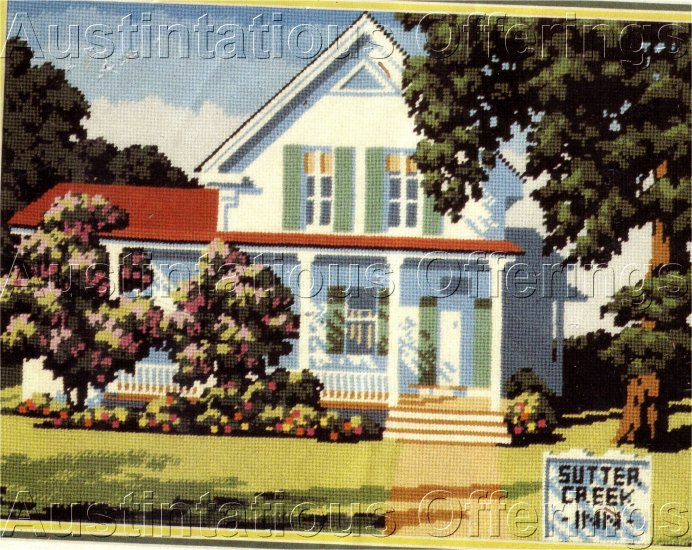 RARE REINARDY SUTTER CREEK COTTAGE NEEDLEPOINT KIT SUMMER BED & BREAKFAST