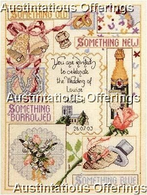 RARE CRAFT COLLECTION WEDDING INVITATION SAMPLER CROSS STITCH KIT TRADITIONS