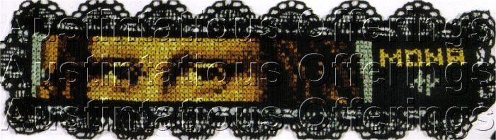 FINE ART REPRODUCTION BOOKMARK CROSS STITCH KIT MONA LISA EYES