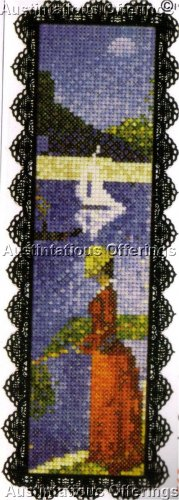 FINE ART REPRODUCTION CROSS STITCH KIT SUNDAY AFTERNOON BOOKMARK 1