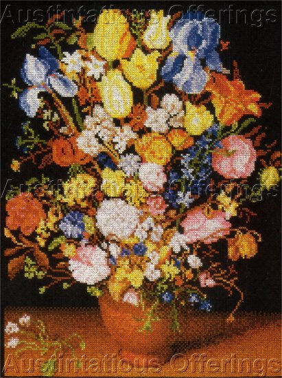 FINE ART REPRODUCTION BREUGEL CROSS STITCH KIT FLORAL VASE