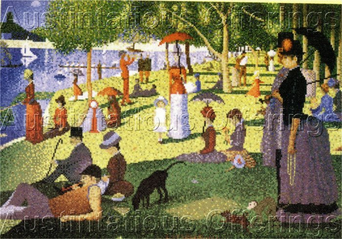 FINE ART REPRODUCTION SEURAT SUNDAY AFTERNOON CROSS STITCH KIT