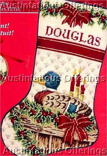 AMERICAN GREETINGS MERRY MALLARD NEEDLEPOINT CHRISTMAS STOCKING KIT