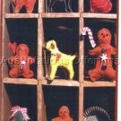 PRIMITIVE FOLK ART  PATTERN CHART  COOKIE CUTTER PINCUSHIONS FELT EMBROIDERY