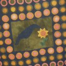 PRIMITIVE FOLK ART PATTERN CHART  PENNY RUG CROW PORTRAIT FELT EMBROIDERY