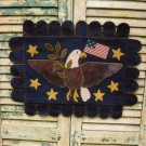 PRIMITIVE FOLK ART  PATTERN CHART  AMERICANA EAGLE PENNY RUG FELT EMBROIDERY