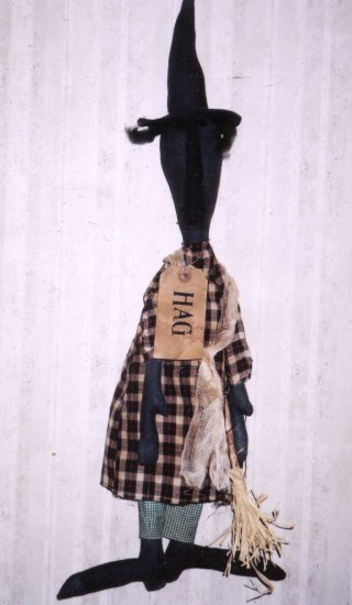 PRIMITIVE FOLK ART HALLOWEEN WITCH HAG DOLL PATTERN