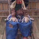 PRIMITIVE FALL HARVEST HALLOWEEN FOLK ART DOLL PATTERN SCARECROW