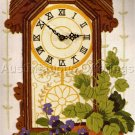 RARE BLYLER  GINGERBREAD MANTLE CLOCK CREWEL EMBROIDERY KIT