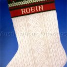RARE ARAN ISLAND HAND KNITTED STYLE NEEDLEPOINT CHRISTMAS STOCKING KIT