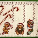 HOLIDAY TABLE SETTING CROSS STITCH KIT CANDYCANE BEARS PLACEMATS
