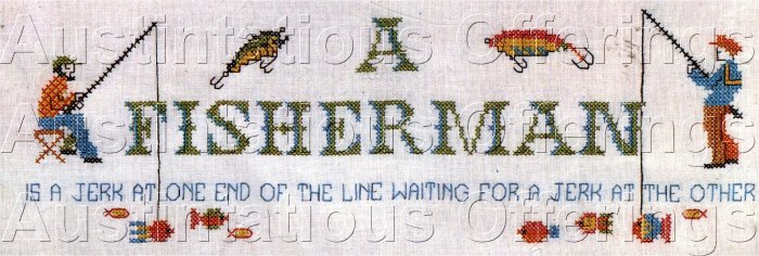 EASY TO DO KIT FISHERMAN SAMPLER NEEDLE 'N HOOPS