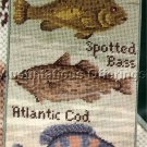 RARE WILLIAMS FISHERMAN NEEDLEPOINT BELL PULL KIT BASS SPORTSMAN