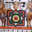 NATIVE  AMERICAN HORSES CROSS STITCH KIT PAINTED PONIES