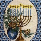 JUDAIC INTEREST HOLIDAY MENORAH NEEDLEPOINT KIT HANUKKAH