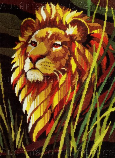 RARE REINARDY LION LONGSTITCH NEEDLEPOINT KIT