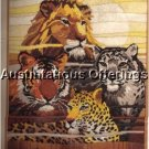 RARE LONGSTITCH NEEDLEPOINT KIT REINARDY BIG JUNGLE CATS LION