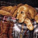 RARE LINDA DANIELS GOLDEN RETRIEVER NEEDLEPOINT KIT FAITHFUL DOG