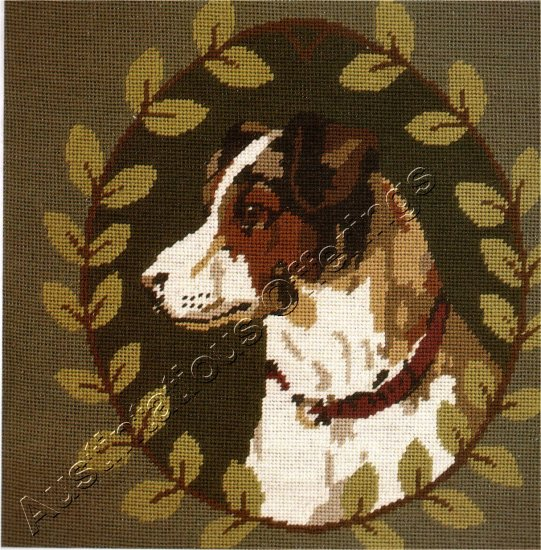 SARA DAVENPORT VICTORIAN DOG TAPESTRIES JACK RUSSELL TERRIER NEEDLEPOINT KIT