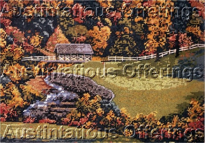 RARE  LARRY DYKE GOLF NEEDLEPOINT KIT ATLANTA COUNTRY CLUB HOLE THIRTEEN