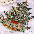 RARE PFALTZGRAFF CHRISTMAS HERITAGE TRAIN  TREE SKIRT CROSS STITCH KIT