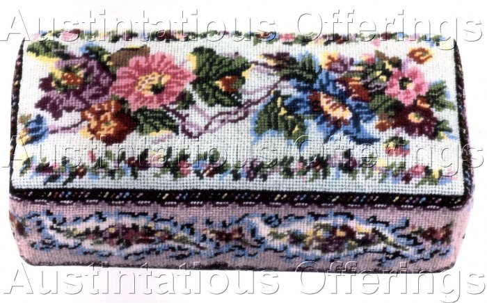 VICTORIAN PAISLEY BRICK COVER NEEDLEPOINT KIT DOORSTOP