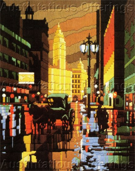 RARE REINARDY CITYSCAPE LONGSTITCH NEEDLEPOINT KIT