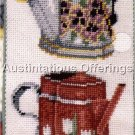 RARE PAINTED WATERING CANS NEEDLEPOINT BELLPULL KIT SUNFLOWERS HELEN PAUL