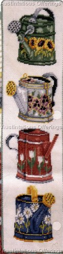 RARE PAINTED WATERING CANS NEEDLEPOINT BELLPULL KIT SUNFLOWERS ELSA WILLIAMS