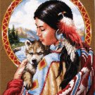RARE NATIVE AMERICAN MAIDEN NEEDLEPOINT KIT INDIAN WOLF SPIRIT SANDY BODINE