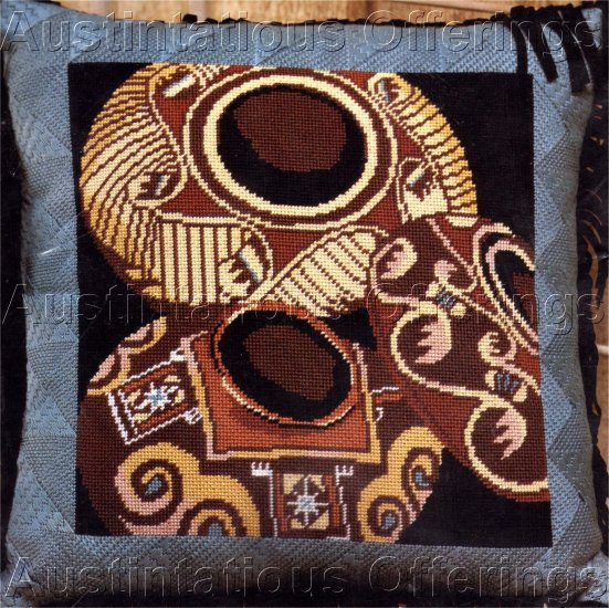 RARE SOUTHWEST POTTERY NEEDLEPOINT PILLOW KIT NATIVE AMERICAN INDIAN POTS
