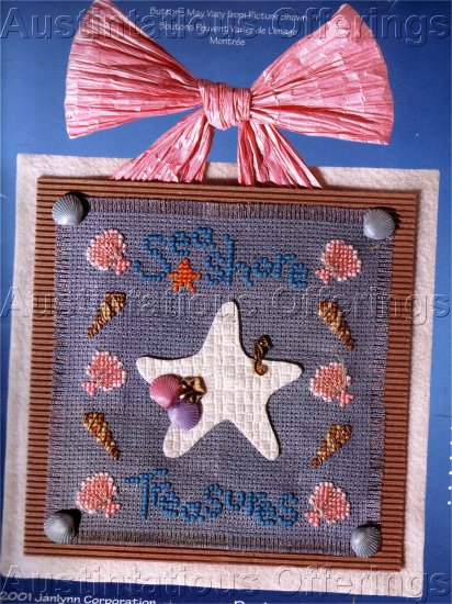 LILLIEBRIDGE CROSS STITCH CRAFT KIT SEASHORE TREASURES BUTTONS BEADS