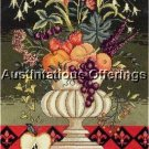 ELEGANT LECLAIR FORMAL STILL LIFE NEEDLEPOINT KIT FLEUR DE LIS